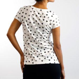 Camiseta Corazones Blanca (Chica)