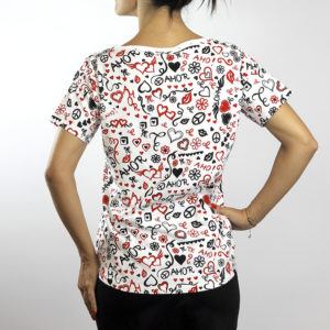 Camiseta Paz y Amor Blanca (chica)