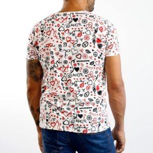 Camiseta Paz y Amor Blanca (chico)