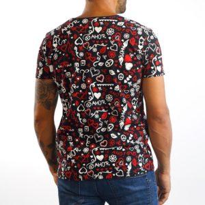 Camiseta Paz y Amor Negra (unisex)