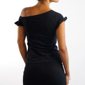 Camiseta Volantes Negra (chica)