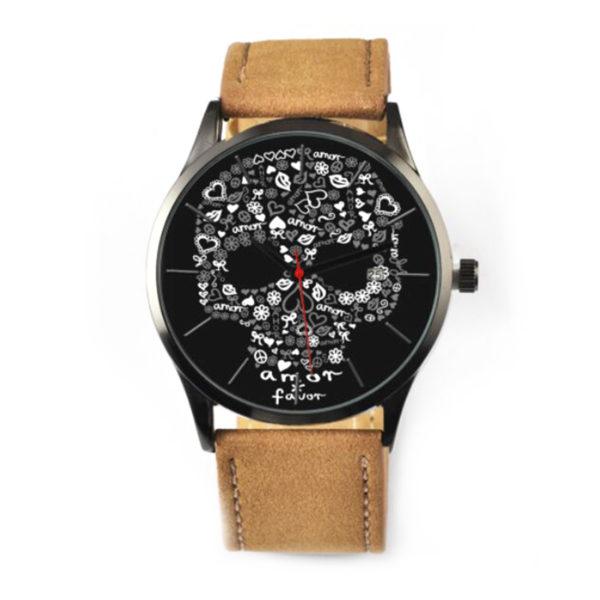 amorporfavor-reloj-calavera-cuero-beige-accesorios