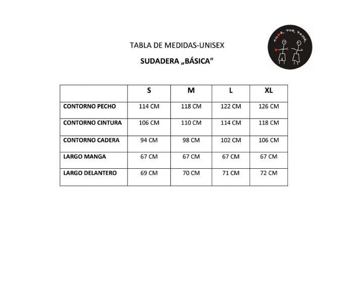 tabla-medidas-unisex-sudadera-basica
