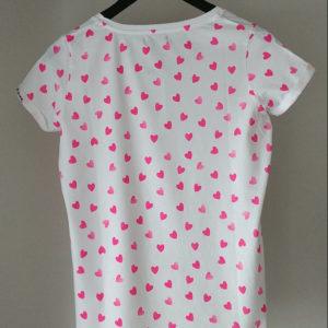 Camiseta Corazones Flúor (Chica)